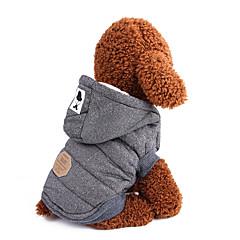 お買い得  犬用ウェア&アクセサリー-犬用 コート 犬用ウェア ソリッド / クラシック / ブリティッシュ グレー / ブルー コットン コスチューム ペット用 男性 保温