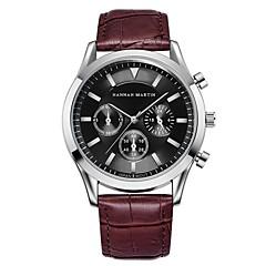 abordables Relojes de Hombre-Hombre Reloj de Pulsera Cuarzo Reloj Casual Cool PU Banda Analógico Casual Moda Negro / Marrón - Negro / Marrón Negro / Blanco Blanco / Marrón