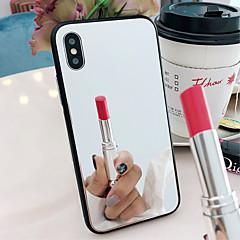 Недорогие Кейсы для iPhone 7 Plus-Кейс для Назначение Apple iPhone X / iPhone 8 Зеркальная поверхность Кейс на заднюю панель Однотонный Твердый Закаленное стекло для iPhone X / iPhone 8 Pluss / iPhone 8