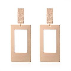 preiswerte Ohrringe-Damen Hohl Tropfen-Ohrringe - Einfach, Geometrisch, Europäisch Gold / Silber Für Normal Alltag