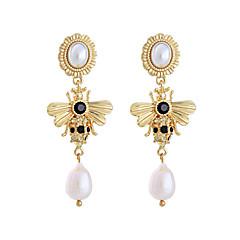 preiswerte Ohrringe-Damen Perle Klassisch Tropfen-Ohrringe - Perle, vergoldet Biene Stilvoll, Europäisch Gold Für Alltag