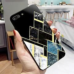 Недорогие Кейсы для iPhone 7 Plus-Кейс для Назначение Apple iPhone X / iPhone 8 Plus С узором Кейс на заднюю панель Полосы / волосы / Мрамор Твердый Закаленное стекло для iPhone X / iPhone 8 Pluss / iPhone 8