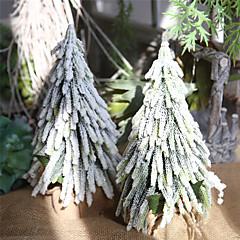abordables Decoración del Hogar-Decoraciones de vacaciones Año Nuevo / Decoraciones Navideñas Árboles de Navidad Fiesta / Decorativa Blanco 1pc