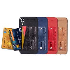 Недорогие Кейсы для iPhone-Кейс для Назначение Apple iPhone XS / iPhone XR / iPhone XS Max Бумажник для карт / со стендом / Кольца-держатели Кейс на заднюю панель Однотонный Мягкий Кожа PU для iPhone XS / iPhone XR / iPhone XS