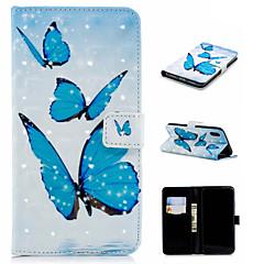 Недорогие Кейсы для iPhone X-Кейс для Назначение Apple iPhone XS / iPhone XS Max Кошелек / Бумажник для карт / со стендом Чехол Бабочка Твердый Кожа PU для iPhone XS / iPhone XR / iPhone XS Max