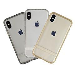 Недорогие Кейсы для iPhone-Кейс для Назначение Apple iPhone XR Защита от пыли / Ультратонкий / Прозрачный Кейс на заднюю панель Однотонный Мягкий ТПУ для iPhone XR