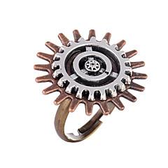 お買い得  指輪-女性用 レトロ オープンリング 調節可能なリング  -  合金 ギア レディース, ヴィンテージ, Steampunk ジュエリー 青銅色 用途 カーニバル マスカレード 調整可