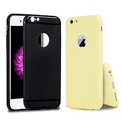 Недорогие Кейсы для iPhone-Кейс для Назначение Apple iPhone 6 / iPhone 6s Защита от пыли / Ультратонкий Кейс на заднюю панель Однотонный Мягкий ТПУ для iPhone 6s / iPhone 6