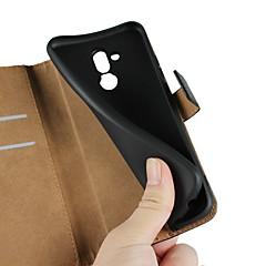 Недорогие Чехлы и кейсы для Huawei серии Y-Кейс для Назначение Huawei Y6 (2018) / Huawei Nova 3i Кошелек / Бумажник для карт / со стендом Чехол Однотонный Твердый Настоящая кожа для Huawei Nova 3i / Mate 10 / Mate 10 lite