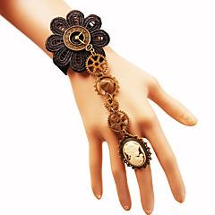 preiswerte Armbänder-Damen Geflochten Ring-Armbänder - Blume, Ausrüstung Hyperbel, Gothic, Steampunk Armbänder Schwarz Für Karnival Maskerade