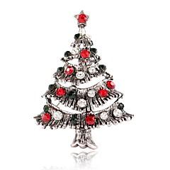 お買い得  ブローチ-女性用 ブローチ  -  クリスマスツリー スタイリッシュ, クラシック ブローチ ゴールド / シルバー 用途 クリスマス