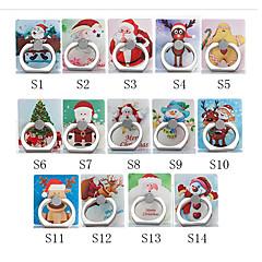 abordables Soportes y Montajes para Teléfono-Escritorio Soporte para soporte de montaje Christmas Santa Claus Phone Holder Ajustable / Rotación de 360 ° ABS Titular