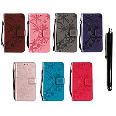 Недорогие Чехлы и кейсы для Nokia-Кейс для Назначение Nokia Lumia 635 / Nokia 7 Plus Кошелек / Бумажник для карт / со стендом Чехол Однотонный Твердый Кожа PU для Nokia 9 / Nokia 8 / 8 Sirocco