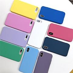 Недорогие Кейсы для iPhone 6-Кейс для Назначение Apple iPhone XR / iPhone XS Max Матовое Кейс на заднюю панель Однотонный Мягкий ТПУ для iPhone XS / iPhone XR / iPhone XS Max