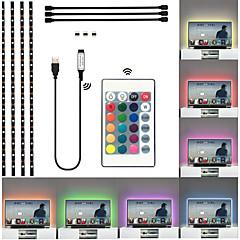 abordables Tiras de Luces RGB-brelong 60 * smd5050 uno para cuatro gotas tira de luz de fondo tv impermeable 1 pc