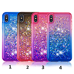 voordelige iPhone 7 Plus hoesjes-hoesje Voor Apple iPhone XS / iPhone XS Max Strass / Stromende vloeistof / Doorzichtig Achterkant Kleurgradatie Hard TPU voor iPhone XS / iPhone XR / iPhone XS Max