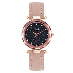 preiswerte Damenuhren-Damen Armbanduhr Quartz Armbanduhren für den Alltag Echtes Leder Band Analog Freizeit Schwarz / Rot / Braun - Rot Grün Rosa