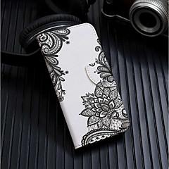 Недорогие Кейсы для iPhone 7 Plus-Кейс для Назначение Apple iPhone XR / iPhone XS Max Кошелек / Бумажник для карт / со стендом Чехол Цветы Твердый Кожа PU для iPhone XS / iPhone XR / iPhone XS Max