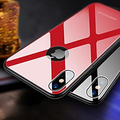 Недорогие Кейсы для iPhone 6 Plus-Кейс для Назначение Apple iPhone XR / iPhone XS Max Ультратонкий Кейс на заднюю панель Однотонный Твердый ТПУ / Закаленное стекло для iPhone XS / iPhone XR / iPhone XS Max