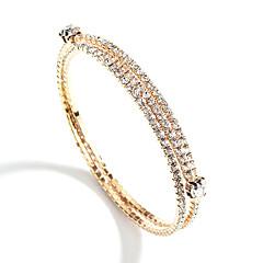 preiswerte Armbänder-Damen Mehrschichtig Armreife Tennis Armbänder - Europäisch, Modisch, Elegant Armbänder Gold / Silber Für Party Verlobung