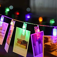preiswerte LED Lichtstreifen-zdm 4m 40 stücke led foto string lichter 40 foto-clips batteriebetrieben oder usb-schnittstelle funkelnder funkeln lichthanging fotokarten und grafik warmweiß dc5v