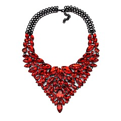 preiswerte Halsketten-Damen Synthetischer Diamant Y Halskette - Tropfen Klassisch, Hyperbel Regenbogen, Rot, Blau 48 cm Modische Halsketten Schmuck 1pc Für Hochzeit, Party