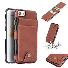 Недорогие Кейсы для iPhone-Кейс для Назначение Apple iPhone 8 Plus / iPhone 6 Plus Бумажник для карт / Защита от удара / Защита от пыли Кейс на заднюю панель Однотонный Мягкий ТПУ для iPhone 8 Pluss / iPhone 8 / iPhone 7 Plus