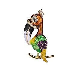 お買い得  ブローチ-女性用 クラシック ブローチ  -  鳥 レディース, ユニーク ブローチ ジュエリー グリーン / ブルー 用途 パーティー