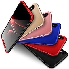 Недорогие Кейсы для iPhone-Кейс для Назначение Apple iPhone X Защита от удара / Матовое Кейс на заднюю панель Однотонный Твердый ПК для iPhone X