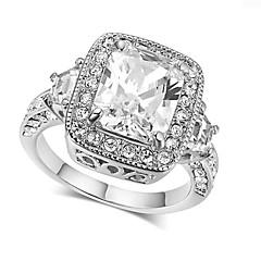 preiswerte Ringe-Damen Klar Kubikzirkonia Stapel Ring Verlobungsring - Romantisch 6 / 7 / 8 / 9 Silber / Rotgold Für Verlobung Geschenk