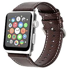 お買い得  メンズ腕時計-本革 時計バンド ストラップ のために Apple Watch Series 4/3/2/1 ブラウン / グレー 23センチメートル / 9インチ 2.1cm / 0.83 Inch