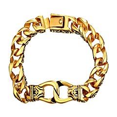 preiswerte Armbänder-Herrn Dicke Kette Ketten- & Glieder-Armbänder - Edelstahl Modisch Armbänder Schmuck Gold / Silber Für Geschenk Alltag