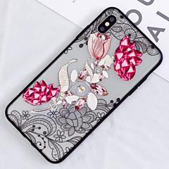 Недорогие Кейсы для iPhone 7-Кейс для Назначение Apple iPhone XS / iPhone XS Max Полупрозрачный / С узором Кейс на заднюю панель Цветы Твердый ПК для iPhone XS / iPhone XR / iPhone XS Max