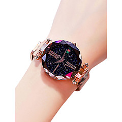 cheap Women's Watches-Women's Wrist Watch Quartz 30 m Water Resistant / Water Proof Creative Alloy Band Analog Casual Fashion Black / Blue / Purple - Purple Blue Rose Gold
