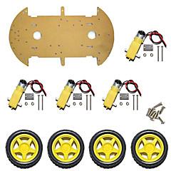 abordables Accesorios para Arduino-chasis de coche inteligente / 4wd velocidad de medición de coche / cuatro ruedas / alta potencia magneto st-4wd / nivel único