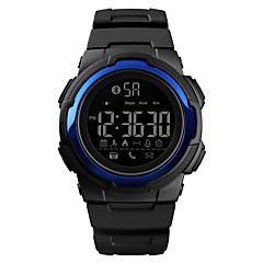お買い得  メンズ腕時計-SKMEI 男性用 スポーツウォッチ 軍用腕時計 デジタル 50 m Bluetooth カレンダー クロノグラフ付き PU バンド デジタル カジュアル ファッション ブラック - ブラック ライトブルー ダークブルー 1年間 電池寿命