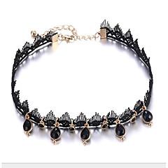 abordables Collares-Mujer Gargantillas - Tela de Encaje Pera Elegante, Clásico Negro 40.7+8.2 cm Gargantillas Joyas 1pc Para Diario