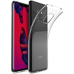 Недорогие Чехлы и кейсы для Huawei Mate-Кейс для Назначение Huawei Huawei Mate 20 Pro / Huawei Mate 20 Прозрачный Кейс на заднюю панель Однотонный Мягкий ТПУ для Mate 10 / Mate 10 pro / Mate 10 lite / Mate 9 Pro