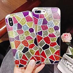 Недорогие Кейсы для iPhone-Кейс для Назначение Apple iPhone XR / iPhone XS Max Защита от удара / Движущаяся жидкость / Прозрачный Кейс на заднюю панель Геометрический рисунок / Сияние и блеск Твердый ПК для iPhone XS / iPhone