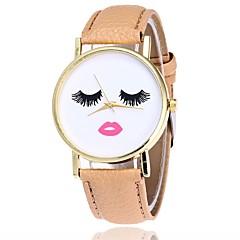 お買い得  レディース腕時計-女性用 リストウォッチ クォーツ ブラック / 白 / ブラウン カジュアルウォッチ 面白い ハンズ カジュアル - Brown グリーン カーキ色