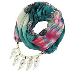 お買い得  ネックレス-女性用 ロング丈 スカーフネックレス  -  甘い, エレガント, フォークスタイル キュート レッド, ブルー, ライトグリーン 180 cm ネックレス ジュエリー 1個 用途 パーティー, お出かけ
