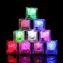 preiswerte Ausgefallene LED-Beleuchtung-12 stücke diy bunte flash led eiswürfel hochzeit festival decor party requisiten leuchtende led glühende induktion eis cubeschristmas