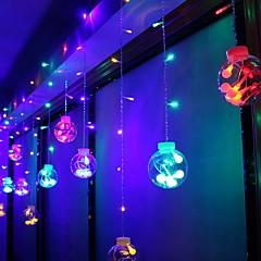 preiswerte LED Lichtstreifen-3M Leuchtgirlanden 60 LEDs Mehrfarbig Dekorativ 220-240 V 1 set
