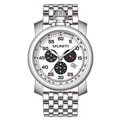 preiswerte Herrenuhren-Herrn Armbanduhr Quartz Armbanduhren für den Alltag Cool Legierung Band Analog Modisch Schwarz / Silber - Silber Silber / schwarz Schwarz / Weiß