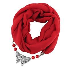 preiswerte Halsketten-Damen Kristall Lang Schal Halskette - Schmetterling Europäisch, Modisch, Hyperbel Niedlich Rose Rot, Rot, Leicht Grün 180 cm Modische Halsketten Schmuck 1pc Für Geburtstag, Bar