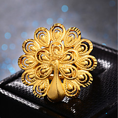 preiswerte Ringe-Damen Klassisch Ring Einstellbarer Ring - vergoldet Pfau Luxus, Hyperbel, Modisch Gold Für Hochzeit Geschenk