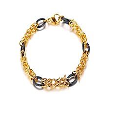 preiswerte Armbänder-Herrn Armband - Rostfrei Modisch Armbänder Gold / Silber Für Abschluss Alltag