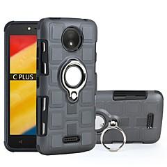 Недорогие Чехлы и кейсы для Motorola-Кейс для Назначение Motorola C plus / C Защита от удара / Кольца-держатели Кейс на заднюю панель броня Твердый ПК для Moto C plus / Moto C