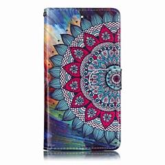 Недорогие Чехлы и кейсы для LG-Кейс для Назначение LG V30 / G7 Кошелек / Бумажник для карт / со стендом Чехол Цветы Твердый Кожа PU для LG V30 / LG Stylo 4 / LG K10 2018