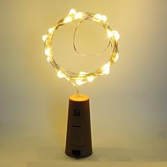 お買い得  LED アイデアライト-1個 ワインボトルストッパー LEDナイトライト 温白色 デコレーション / 雰囲気ランプ